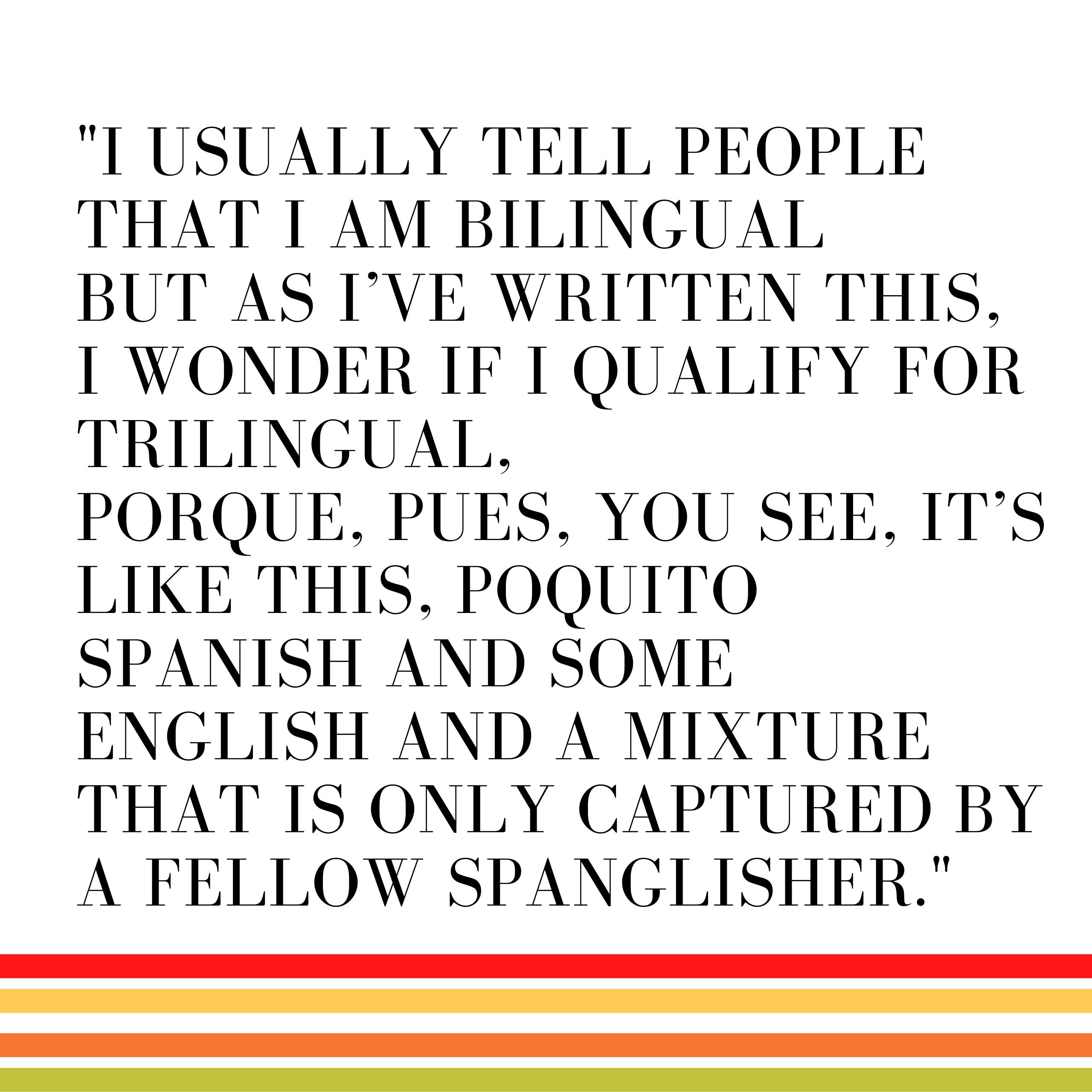 spanglish blog quote